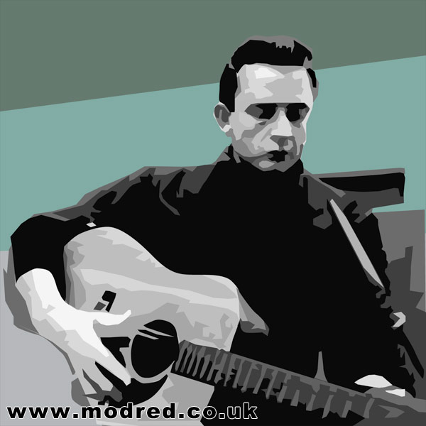 Johnny Cash Vector Vector illustration of Johnny