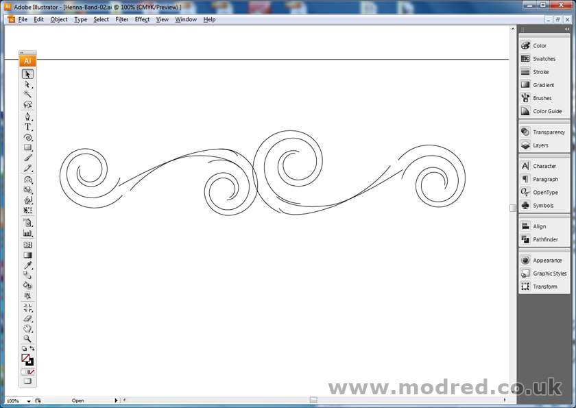 Drawing a stencil using Illustrator - ModRed Design
