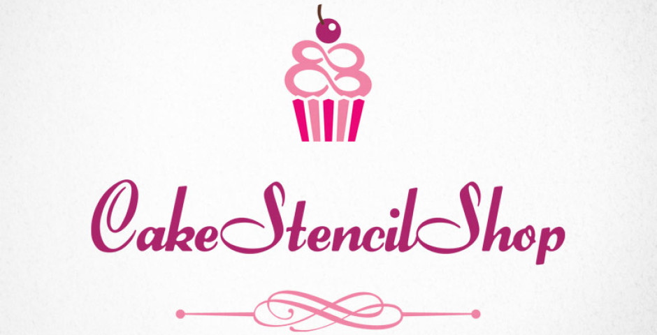 cake stencil shop logo design modred design