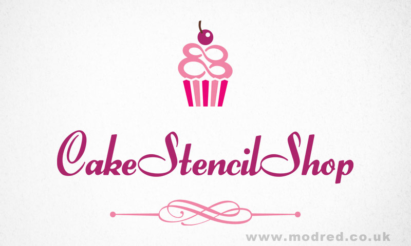 Cake Stencil Shop Logo Design - ModRed Design