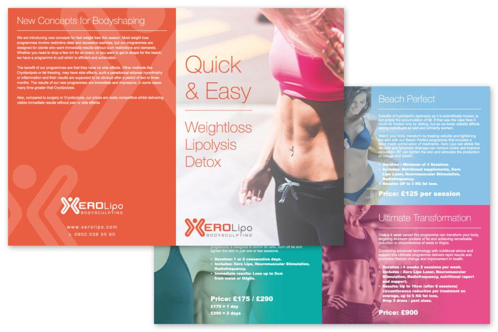 Xero Lipo Leaflet Design