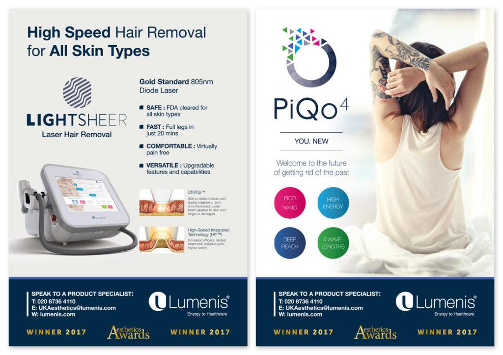 Series of advert designs