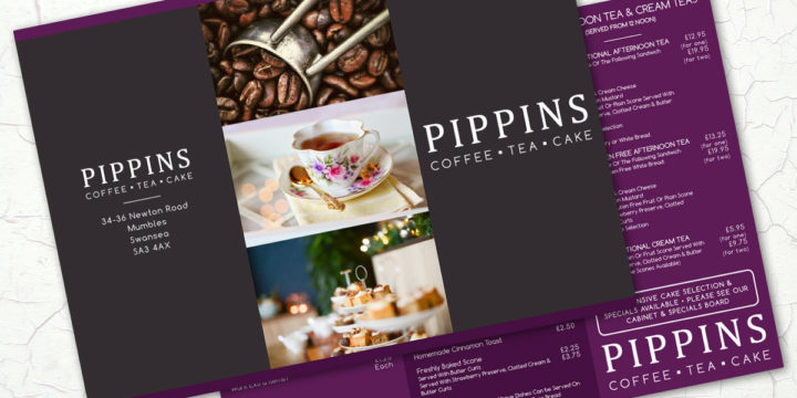 Pippins Logo & Menu Design