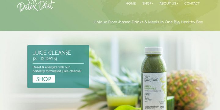 My Detox Diet Web Design