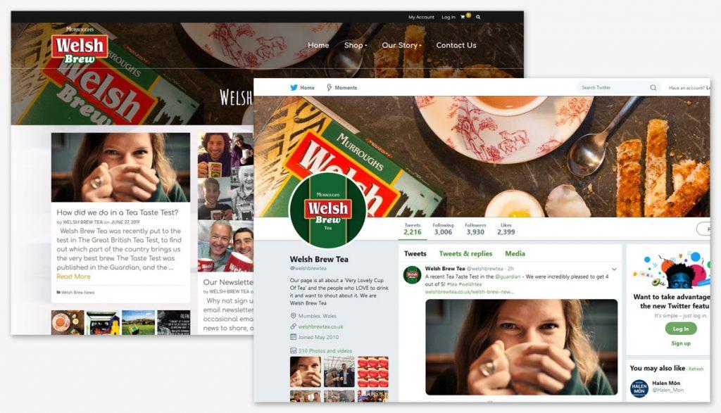 Welsh Brew Tea Social Media