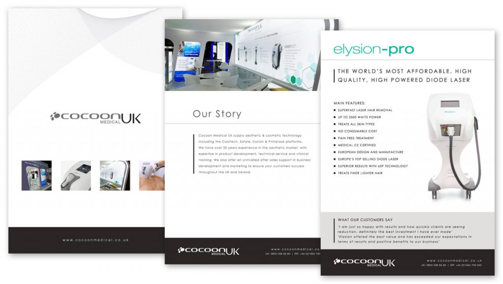 Cocoon Medical UK Brochure Design