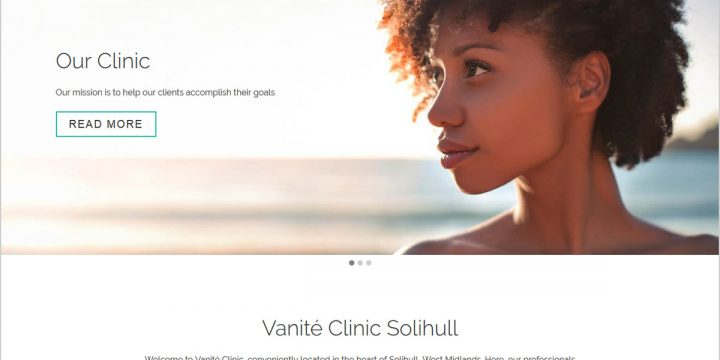Vanité Clinic Web Design