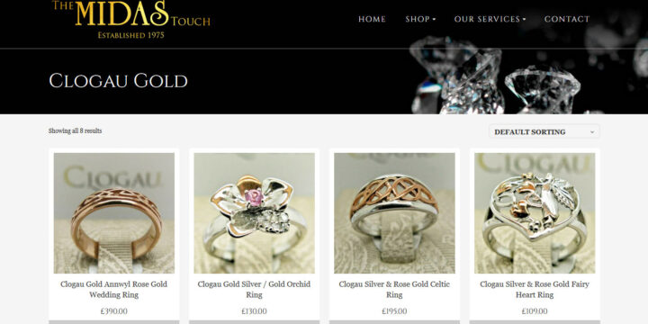 Midas Jewellery Web Design