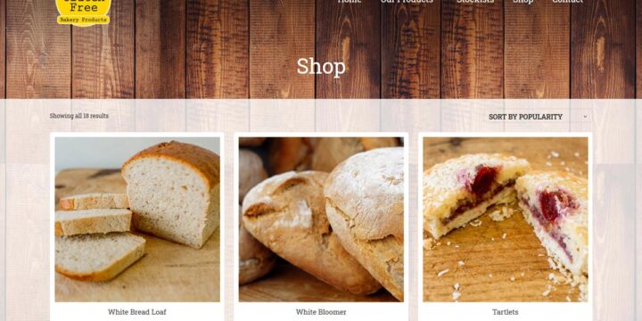 Gluten Free Bakery Web Design