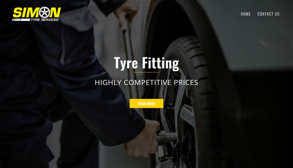 Simon Tyre Services Web Design
